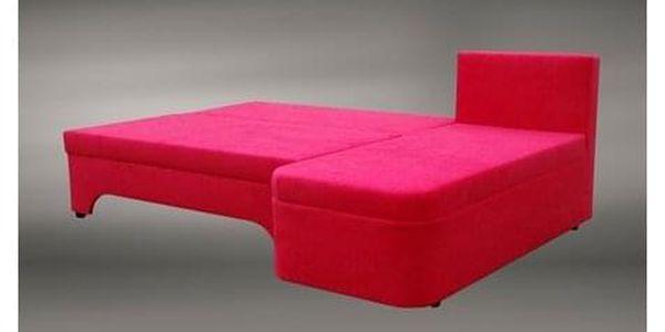 Rozkládací rohová sedačka VALERIE Šedá Červená5