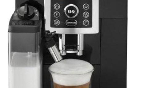 Espresso DeLonghi Intensa ECAM 23.460.B černé + dárky Příslušenství DeLonghi Skleničky espresso + Káva zrnková DeLonghi Kimbo Classic 250g v hodnotě 318 Kč