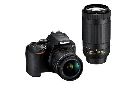Digitální fotoaparát Nikon D3500 + 18-55 AF-P VR + 70-300 AF-P VR (VBA550K005) černý Dárkový poukaz Nikon 500 Kč + DOPRAVA ZDARMA