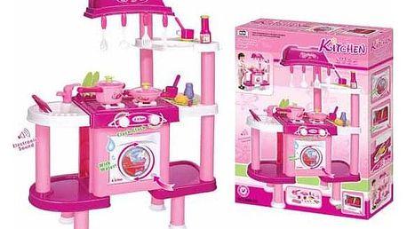 G21 24522 Dětská kuchyňka s příslušenstvím růžová II.