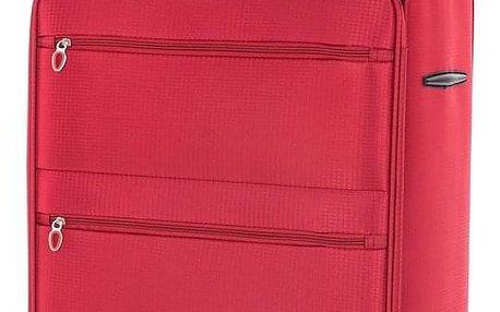 Pretty UP Cestovní textilní kufr TEX15 L, červená