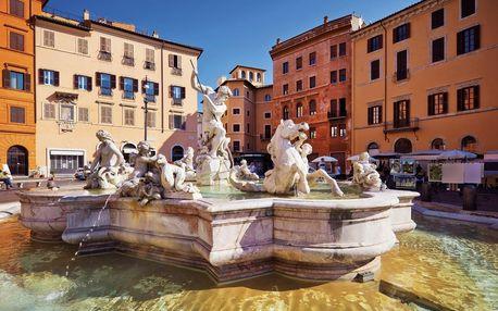 Itálie - Řím letecky na 5 dnů, snídaně v ceně