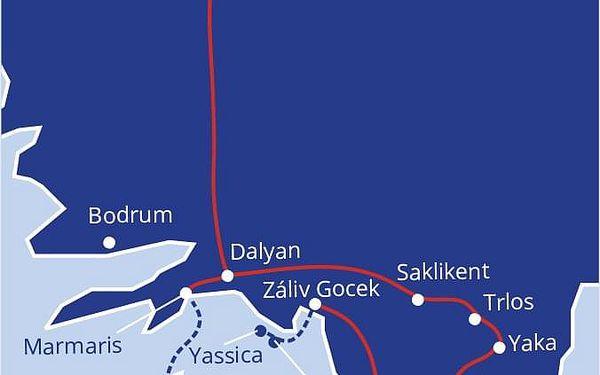 Pohlednice z Turecka, Bodrum, letecky, polopenze5