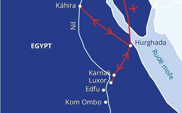 Malý okruh Egyptem s koupáním v Hurghadě, Hurghada (oblast), letecky, strava dle programu4