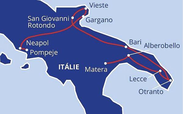 Itálie na podpatku, letecky, polopenze4