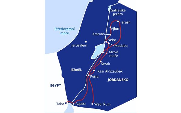 Jordánsko - země, kde se zastavil čas, letecky, polopenze5