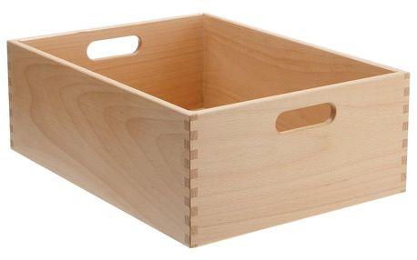 Dřevěný organizér z tvrdého bukového dřeva, 40 x 30 x 15 cm, ZELLER
