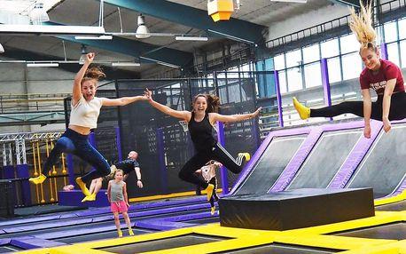 10 vstupů na trampolíny a atrakce v JumpParku Brno