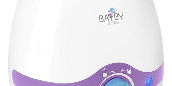 Ohřívač kojeneckých lahví BAYBY BBW 2000 3v1 bílý/fialový3
