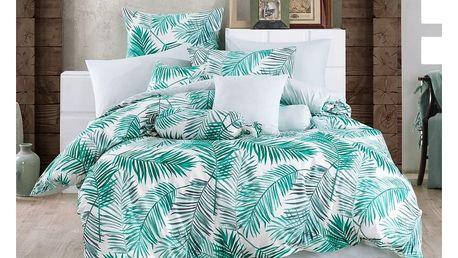 BedTex Bavlněné povlečení Palms Green, 140 x 220 cm, 70 x 90 cm
