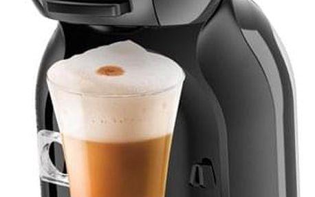 Espresso Krups NESCAFÉ Dolce Gusto Mini Me KP1208CS černé/šedé + dárek Kapsle pro espressa NESCAFÉ Dolce Gusto® Latte Macchiato kávové kapsle 16 ks v hodnotě 99 Kč