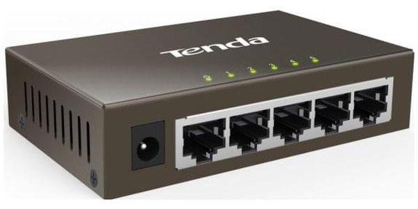 Switch Tenda TEG1005D černý