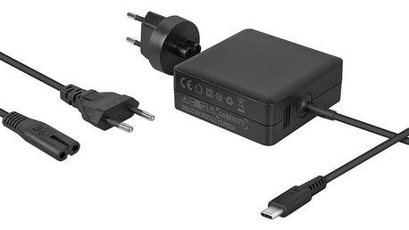 Napájecí adaptér Avacom USB-C 65W Power Delivery + USB (ADAC-FCA-65PD)