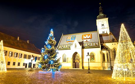 Výlet na vyhlášené Vánoční trhy v Záhřebu