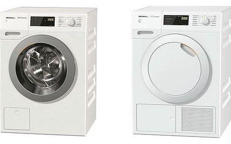 Set (Sušička prádla Miele ChromeEdition TDB230WP Active) + (Automatická pračka Miele ChromeEdition WDB 030 WCS)