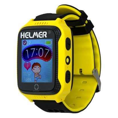 Chytré hodinky Helmer LK 707 dětské s GPS lokátorem žlutý (Helmer LK 707 Y)