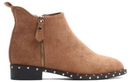 Dámské hnědé kotníkové boty Raina 3282