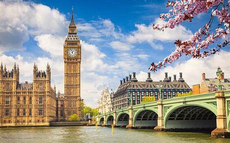 Velká Británie - Londýn autobusem na 7 dnů, snídaně v ceně