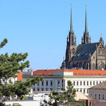 Prvorepublikový hotel v centru Brna s polopenzí