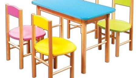 Dětská barevná židlička AD251 červená