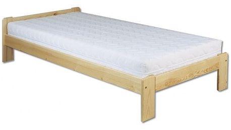 Dřevěná postel 90x200 LK123 olše