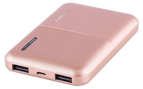 GoGEN 5000 mAh, metalická růžová (PB50002RG)