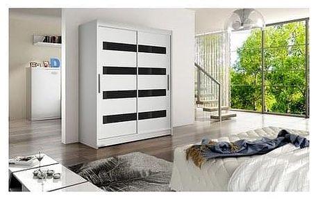 Velká šatní skříň WESTA IV bílá šířka 150 cm