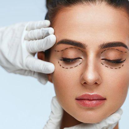 Ošetření očních víček přístrojem Luxus PlasmaLiner