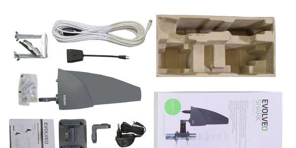 Venkovní anténa Evolveo Shark 35dB, aktivní DVB-T/T2 (SHARK01)4