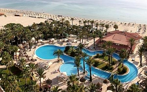 Riadh Palms, Tunisko, letecky, all inclusive2