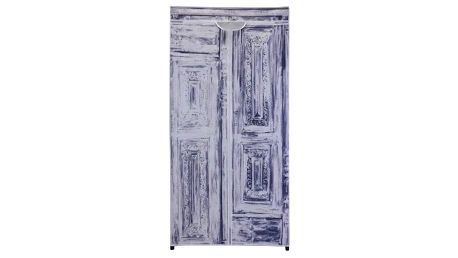 Textilní šatní skříň 75 x 160 x 45 cm, Antik