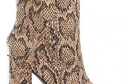 Dámské béžové kotníkové boty Furay 1576