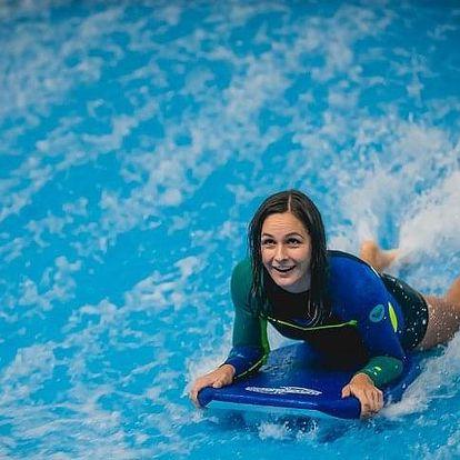 Indoor surfing - 0,5 hodiny na vlně