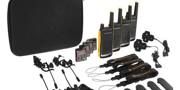 Vysílačky Motorola TLKR T82 Extreme Quad Pack (B8P00810YDEMAQ) černý/žlutý + DOPRAVA ZDARMA4