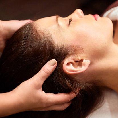 Indická masáž hlavy a regenerační masáž zad