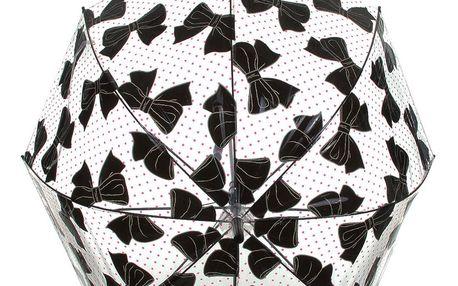 Deštník Mašličky a puntíky průhledný