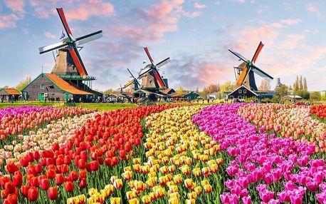 Holandsko na 3 dny: Amsterdam, květinový park Keukenhof a větrné mlýny