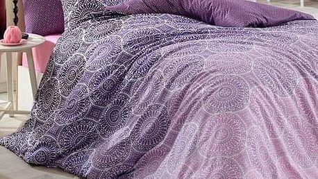 BedTex Bavlněné povlečení Colin lila, 140 x 200 cm, 70 x 90 cm