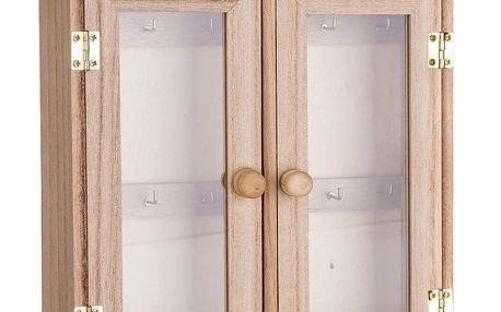 Dřevěná skříňka na klíče, 20 x 27 cm