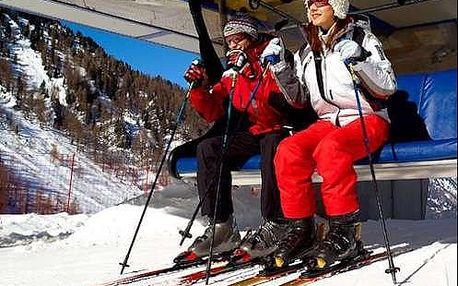Lyžování v italských Alpách se snídaní a wellness v hotelu Taufers