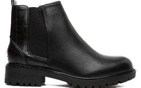 Dámské černé kotníkové boty Tabby 126