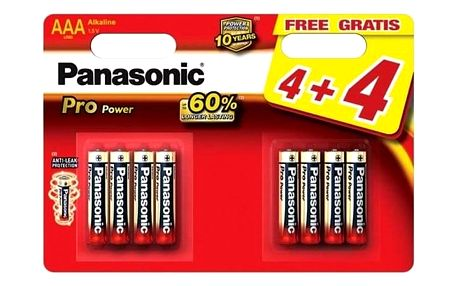 Panasonic Pro Power AAA, LR03, blistr 4+4ks (LR03PPG/8BW)