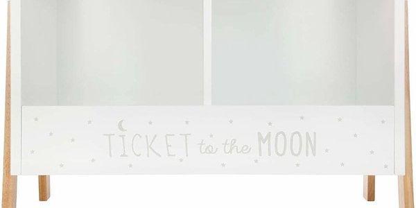 Atmosphera Créateur d'intérieur Skříňka na knihy pro děti, dřevěný regál, bílý regál, bílý regál na knížky, police do dětského pokoje, bílá skříňka3