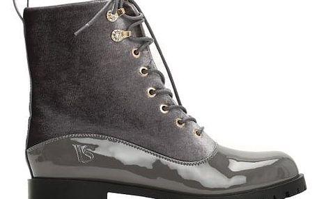 Dámské šedé kotníkové boty Simone 2103