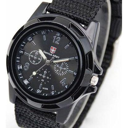 Pánské vojenské hodinky - černé - dodání do 2 dnů
