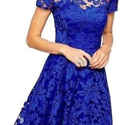 Dámské elegantní krajkované módní šaty - dodání do 2 dnů