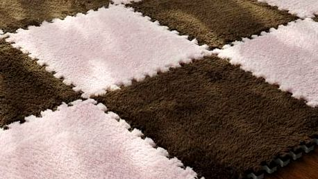 Skládací koberec s plyšovým povrchem - Hnědá - dodání do 2 dnů