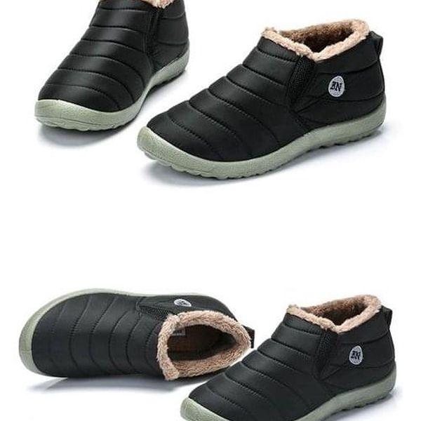 Unisex zimní kotníkové boty - Černá-velikost 38 - dodání do 2 dnů