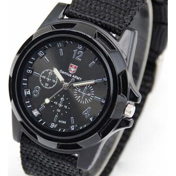 Pánské vojenské hodinky - černé - dodání do 3 dnů