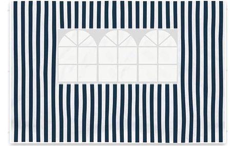 Garthen 419 Sada dvou bočních stěn pro zahradní stan - bílá/modrá